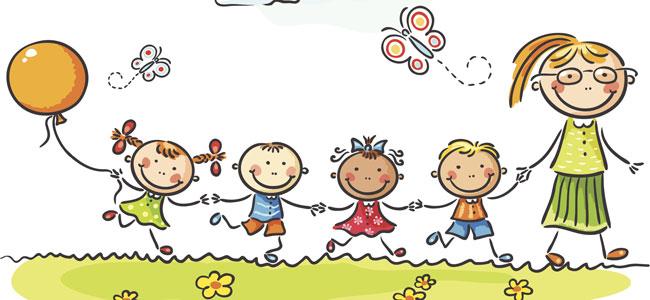 Grupa wesołych dzieci